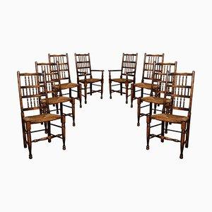 Chaises à Dossier en Frêne, Set de 8