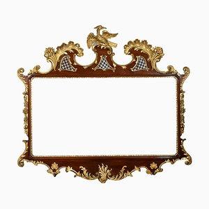 Large 18th Century Style Mahogany and Gilt Wall Mirror
