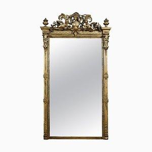 Rokoko Revival Spiegel mit vergoldetem Holzrahmen und Komposition