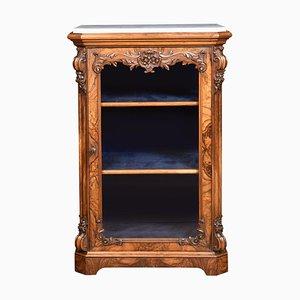 Figured Walnut Pier Cabinet