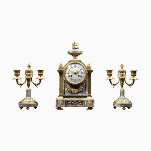 Französisches Dreiteiliges Uhrenset von Lemerle-Charpentier & Cie Paris, 3er Set