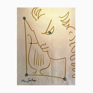 Tapisserie des jungen Mannes mit Leier von Jean Cocteau