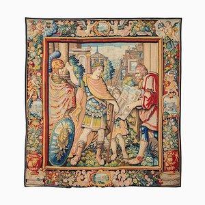 Frühes 17. Jh. Tapisserie, Allegorie des Architekten, Wolle und Seide