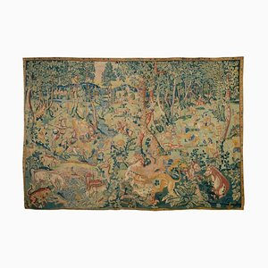 Late 16th Century Beasts Hunt Tapestry in Wool and Silk