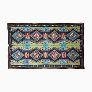 Handgewebter geometrischer Vintage Teppich