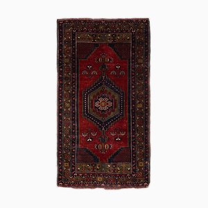 Dark Red Rug with Border and Medallion