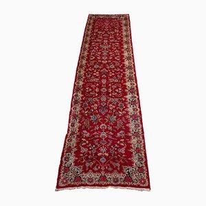 Tapis Kerman Floral Rouge Foncé avec Bordure
