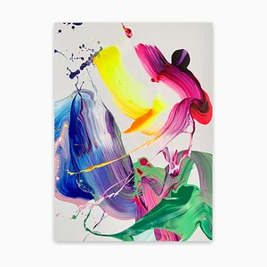 Fluor Love, Abstract Painting, 2021