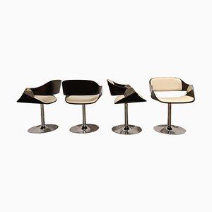 Vintage Swivel Chairs by Rudi Verelst, 1970s, Set of 4