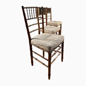 Antique French Napoleon III Faux Bamboo Opera Chair