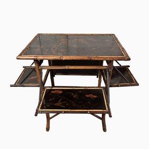 Antiker Chinoiserie Tisch aus Bambus von Jas Shoolbred