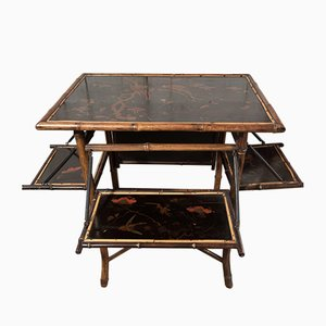 Antique Chinoiserie Bamboo Table by Jas Shoolbred