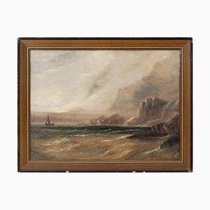 Stormy Coastal Blick mit Segelboot von Stanley Montague