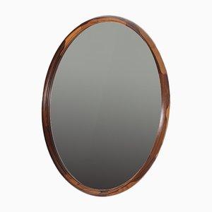 Large Circular Mirror in Rosewood by Östen Kristiansson