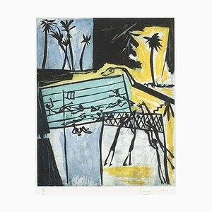 Piscine jaune by Louis Cane