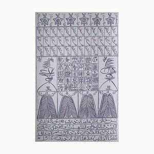 Hommage à Ibn Ata Allah Iskandari IV by Rachid Koraichi