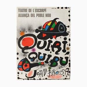 Expo 76 Quiriquibu Teatre De Lescorpi Poster von Joan Miro