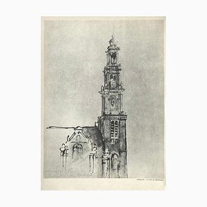 Westerkerk Tower in Amsterdam after a Drawing by Rembrandt for Revue Verve
