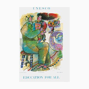 Expo 86 Unesco Education for All Poster by Théo Tobiasse