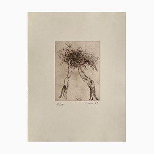 Vegetable Pattern: Tribute to Caspar David Friedrich by Zoran Music