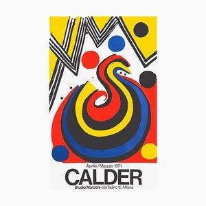Affiche Expo 71 Studio Marconi Milano par Alexandre Calder