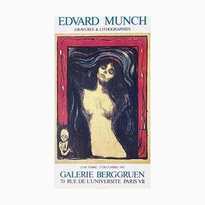Affiche Expo 83 Galerie Berggruen par Edvard Munch
