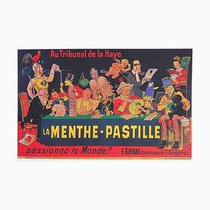 La Menthe Pastille Passionne Le Monde !! Affiche D'après Ogé Historial De La Grande Guerre