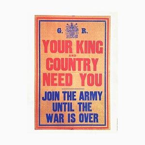 Affiche Votre Roi et votre Pays ont besoin de vous