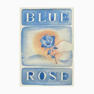Affiche Rose Bleue par Jean Michel Folon