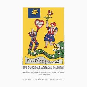 Affiche World Day to Fight Against Aids par Niki De Saint Phalle