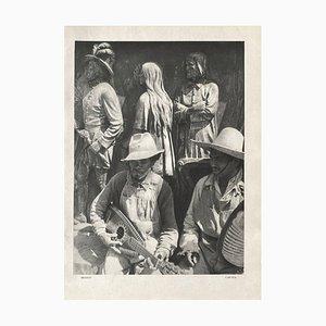 Crowd in Mexico by Henri Cartier-Bresson, 1934