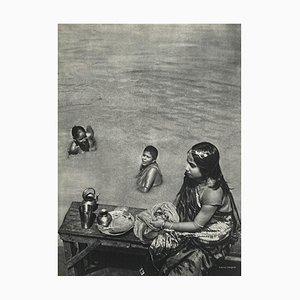 Bath in the Ganges by Gaetan Fouquet