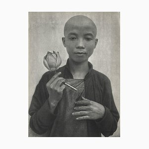 The Young Chinese Boy with a Rose by Therese Le Prat for Revue Verve