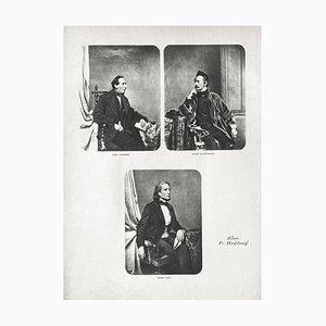 Portrait Gallery of Artists by Franz Hanfstaengl for Revue Verve, 1860