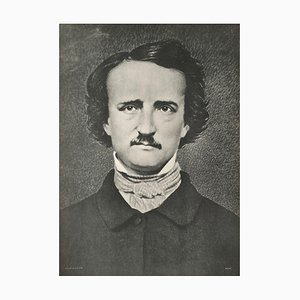 Edgar Allan Poes Porträt, Mathew Brady, Revue Verve, 1849