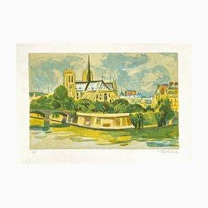 Paris, L'abside de Notre-Dame by Roger Forissier