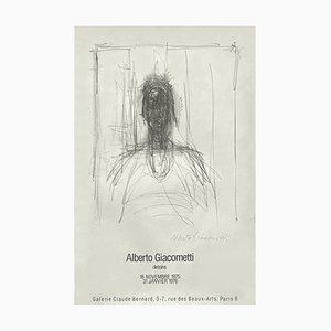 Affiche Expo 75 Galerie Claude Bernard par Alberto Giacometti