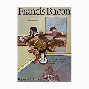 Affiche Expo 77 Galerie Claude Bernard par Francis Bacon