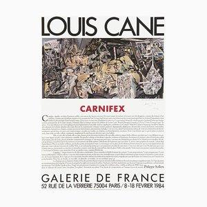Affiche Expo 84 Carniflex Galerie De France par Louis Cane
