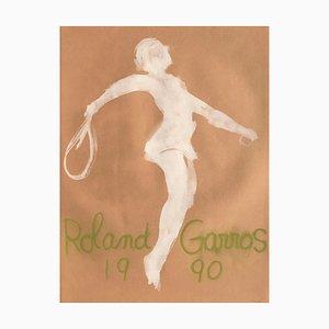 Roland-Garros 1990 par Claude Garache