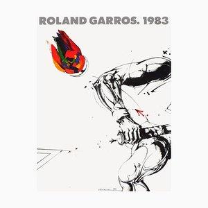 Affiches Officielles Roland-Garros, Vladimir Velickovic, 1983