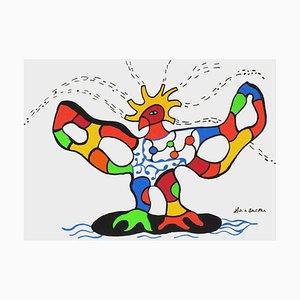 Oiseau de feu blanc par Niki De Saint Phalle