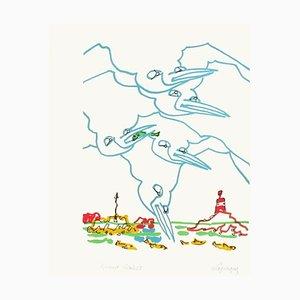 Bretagne - Les goélans II par Charles Lapicque