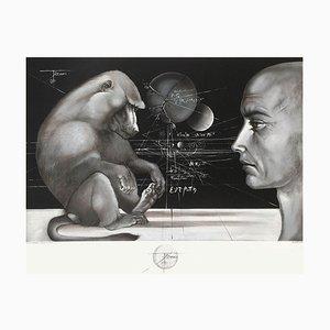 Visage au singe par Pierre Yves Tremois