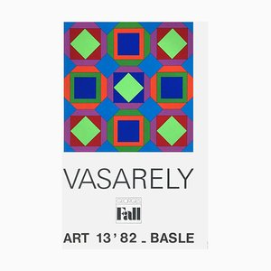 Expo 82 Art Basel 82 Poster by Victor Vasarely