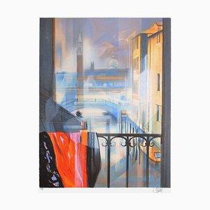Balcon à Venise par Jean-Baptiste Valadé