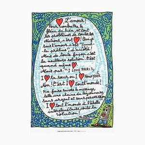 L'amour (SIDA) par Robert Combas