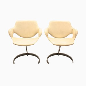 Vintage French Armchairs by Boris Tabacoff, Set of 2