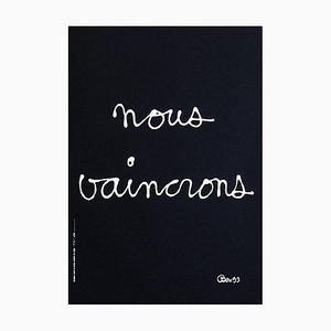 Nous Vaincrons (SIDA) by Ben Vautier BEN