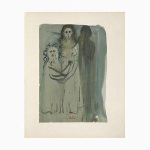 Divine Comédie Purgatoire 16 - Dans la fumée des Coléreux de Salvador Dali